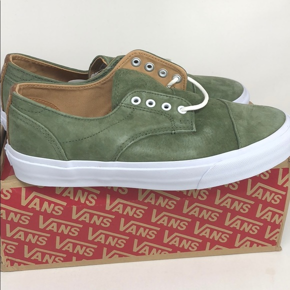 2ce981453e Vans Dillon CA Pig Suede Olive Green Size 8.5